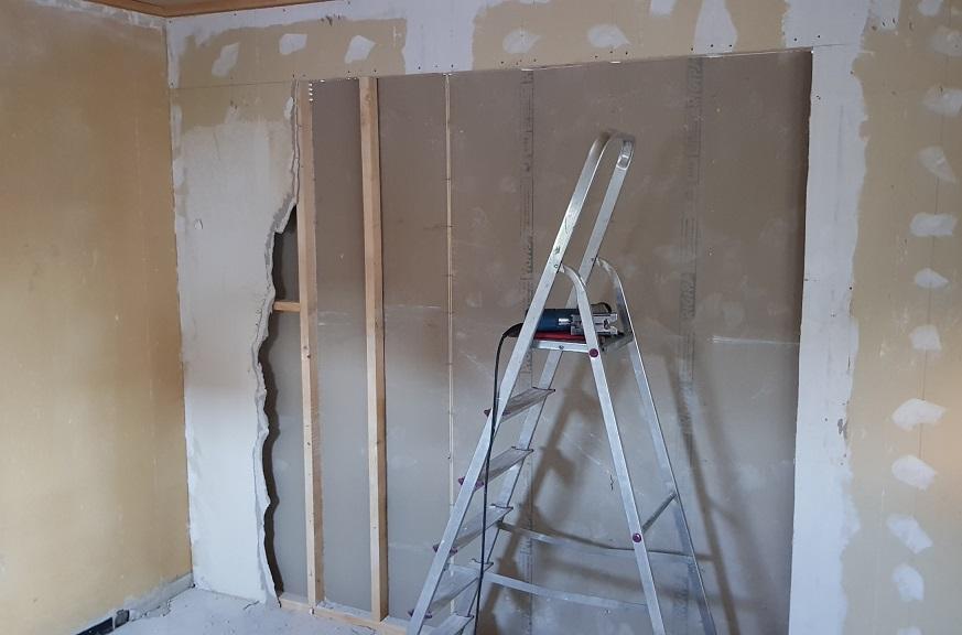 damit Platz und Raum entsteht, eine Wand muss raus