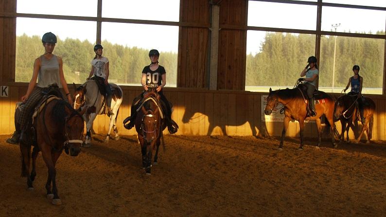 gemeinsam mit den Töchtern lernen viele Menschen den guten Umgang mit dem Pferd. Foto ist © Manfred Laib